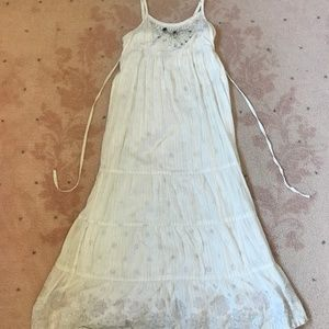 Justice girls white maxi dress